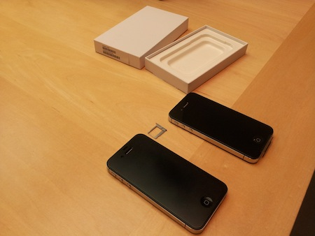 iPhone 4SをApple Storeで本体交換